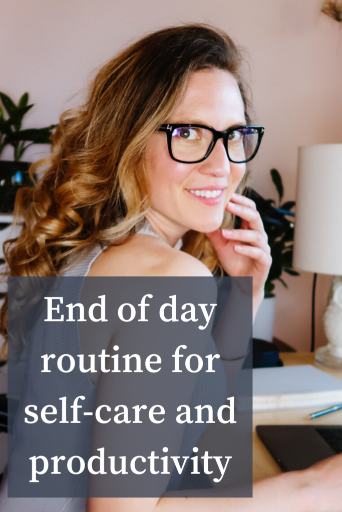 End of work day routine pinterest pin